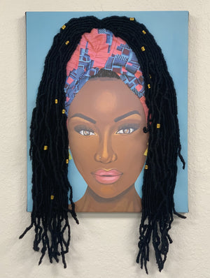Mesmerized- 3D Canvas Print (With Hair)