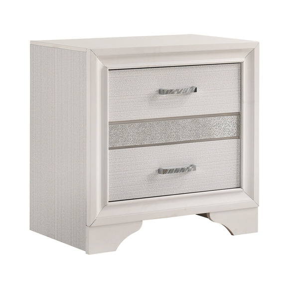 Coaster Miranda 2-Drawer Nightstand Tray White