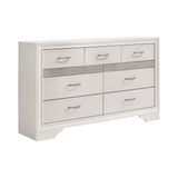 Coaster Miranda 7-Drawer Dresser White And Rhinestone