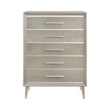 Coaster Ramon 5-Drawer Chest Metallic Sterling