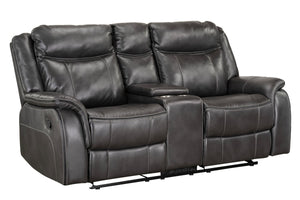 Avalon Manual Motion Glider Recliner Loveseat