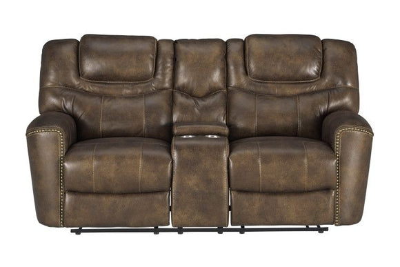Standard Furniture Kobe Brown Power Motion Loveseat, Brown