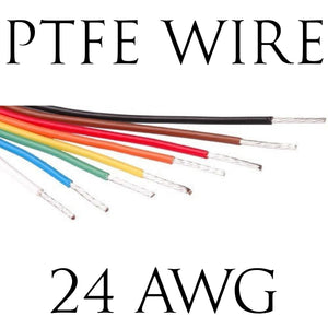 24AWG PTFE BS Spec Hook Up Wire (1 Metre Lengths)