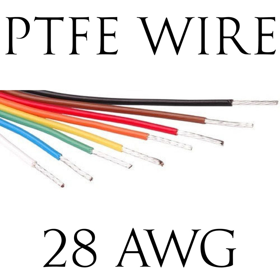 28AWG PTFE BS Spec Hook Up Wire (1 Metre Lengths)