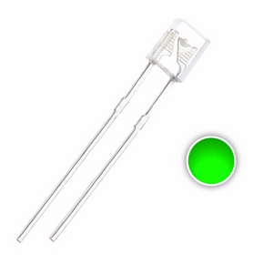 2x3x4 Rectangular Green LED