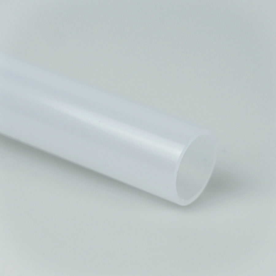 "7/8"" OD Thin Walled Trans White Polycarbonate Tube (1 Metre)"
