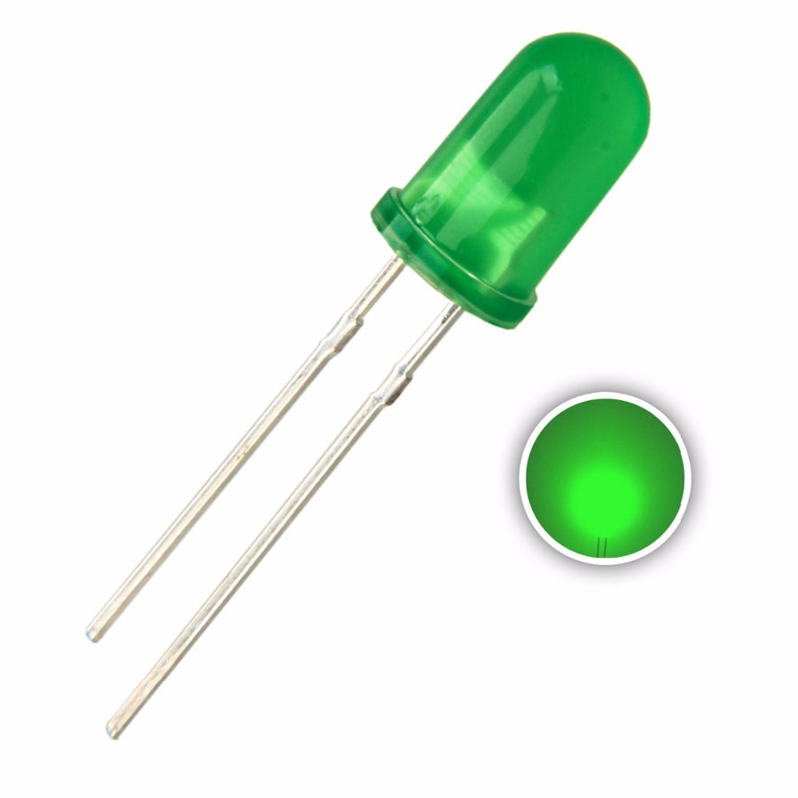 5mm Diffused Green LED