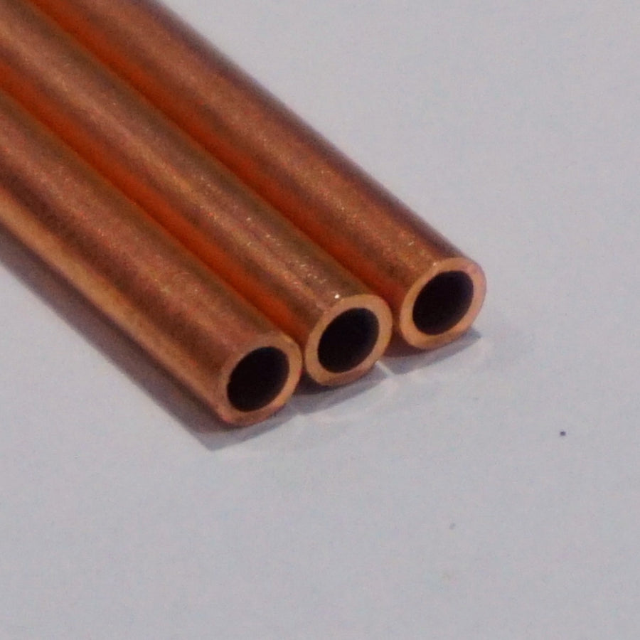 Copper Tube 3mm OD x 2.1mm ID (305mm Lengths)