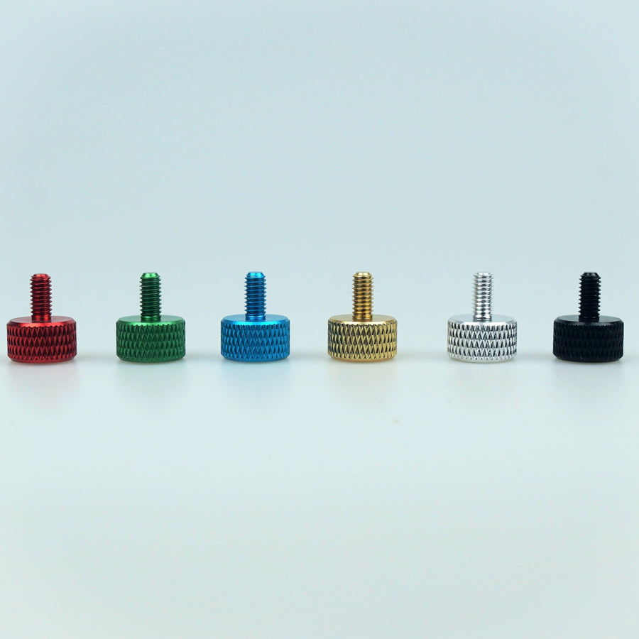 M4 X 8mm Length Knurled Thumbscrews - Style 1