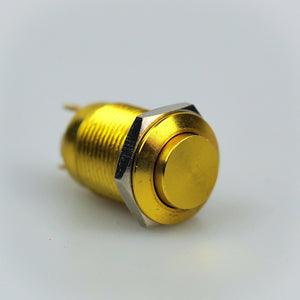 12mm Momentary Switch - Gold - High Top