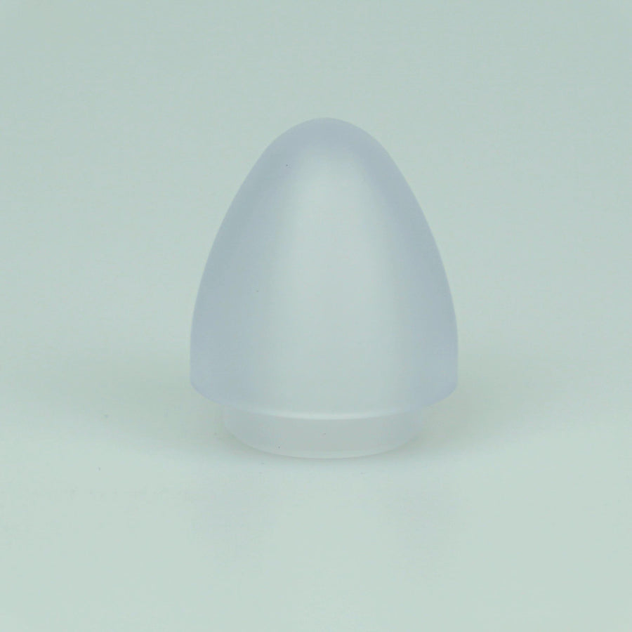"1"" OD Thick Walled Clear Hollow Parabolic Blade Tip"