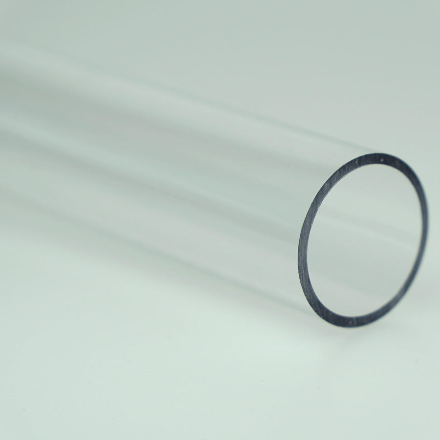 "1"" OD Thin Walled Clear Polycarbonate Tube (1 Metre)"