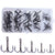 50Pcs Carbon Steel Treble Fishing Hooks