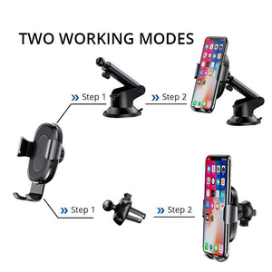 3 In 1 Wireless Charger Car Phone Holder