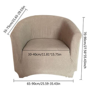 Brown Slipcover club chair