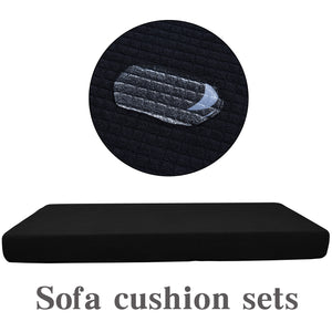 Premium Black Couch Cushion Set