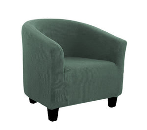 Club Chair light greenish slipcover