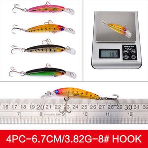 Mixed Fishing Lure Kit Set Trolling Artificial Bait Lifelike Wobbler Carp Fishing Tackle