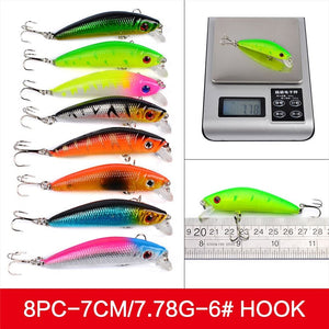 56Pcs/lot Fishing Lure