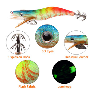 10pcs Luminous Fishing Lure
