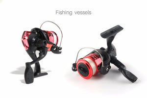 2PCS Collapsible Fishing Rod Combo Set