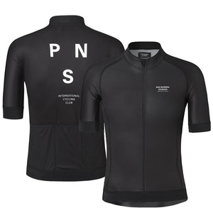 Pro Team PNS 2019 Summer Short Sleeve Cycling Jersey For Men Quick Dry Bicycle MTB Bike Tops Clothing Wear Silicone Non-slip