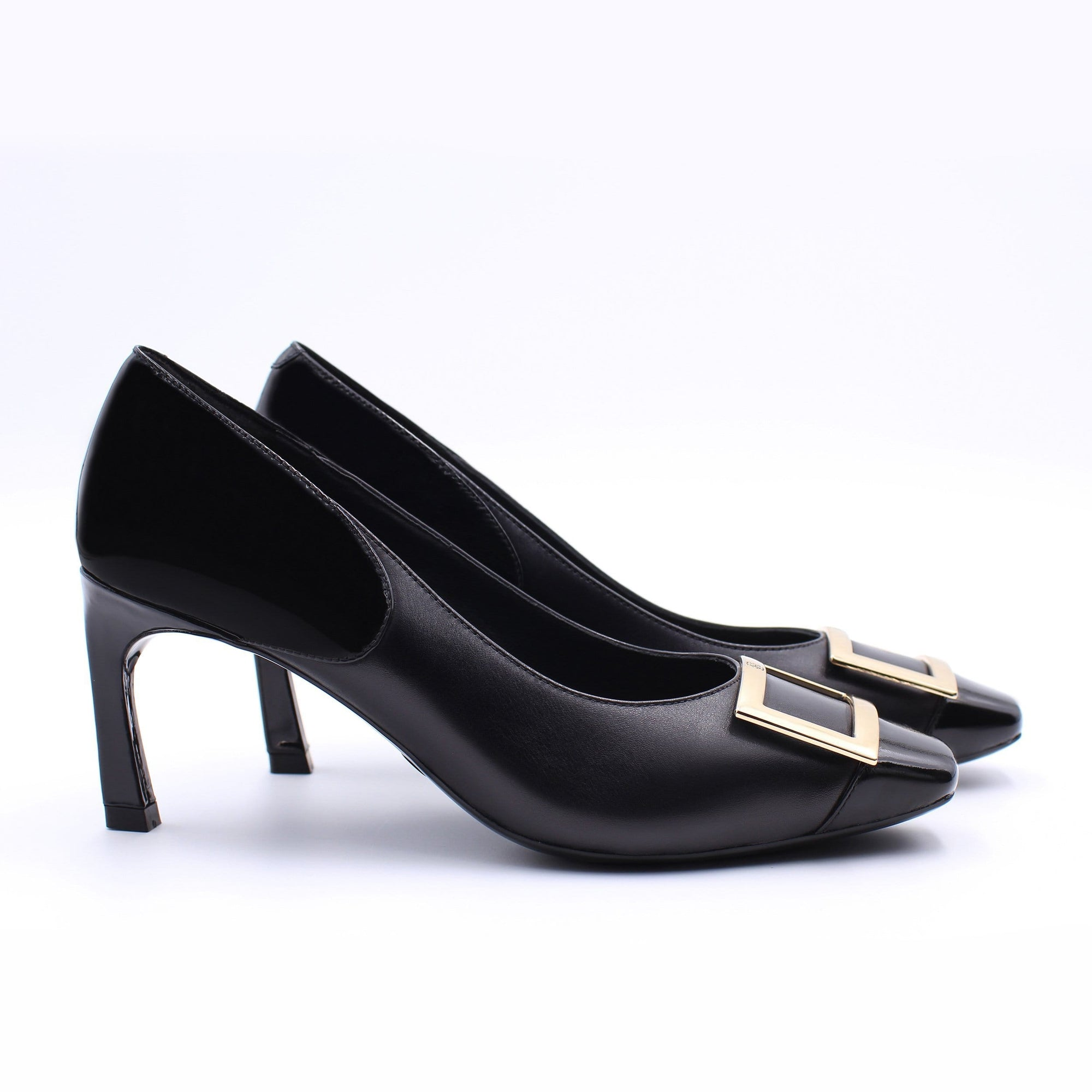 HOPE ROSA Pumps GRACE PUMP - BLACK/BLACK PATENT