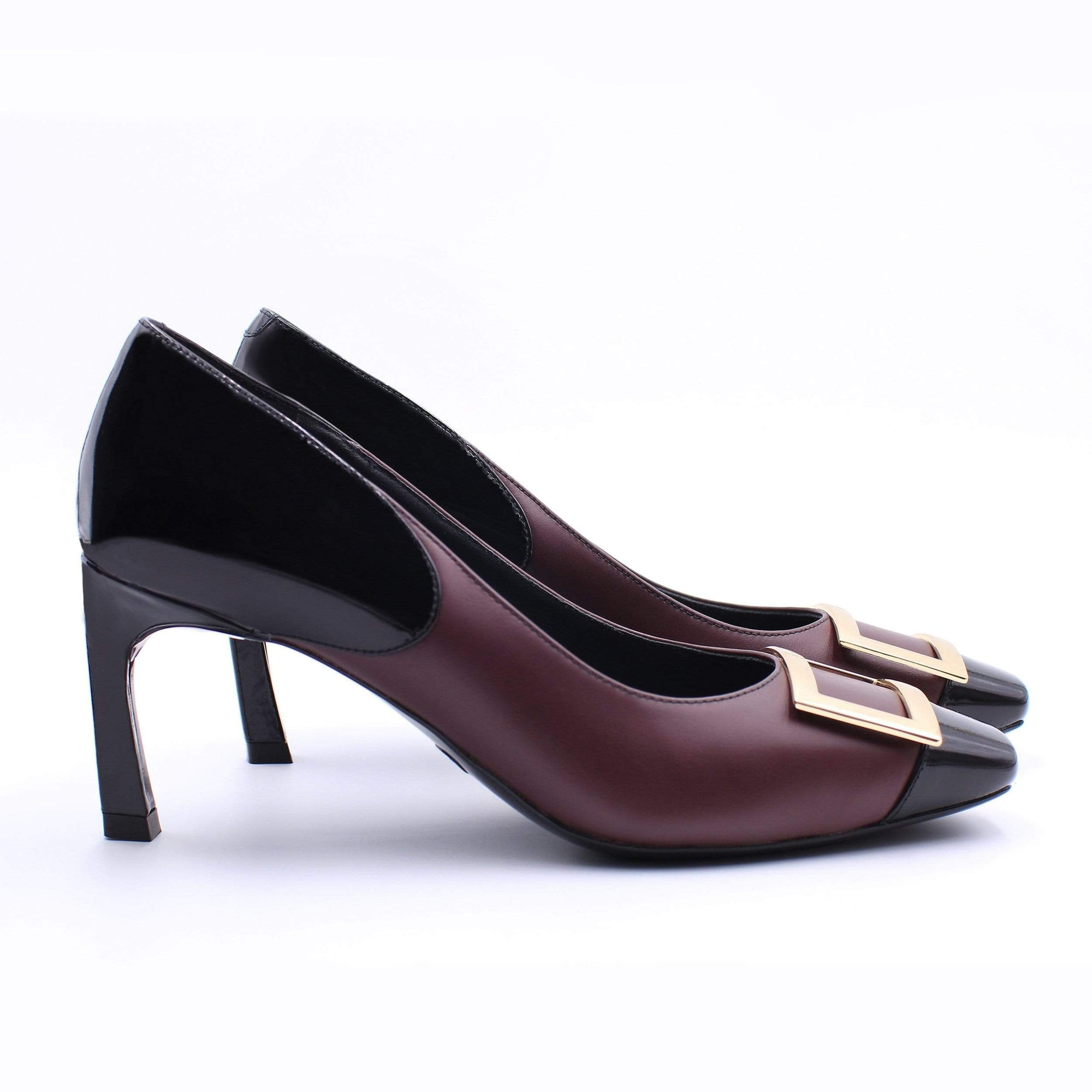 HOPE ROSA Pumps GRACE PUMP - MAROON/BLACK PATENT