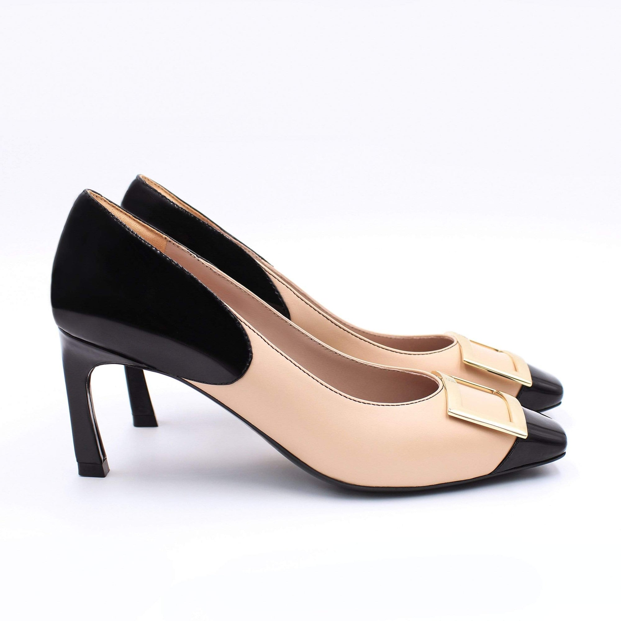 HOPE ROSA Pumps GRACE PUMP - NUDE/BLACK PATENT