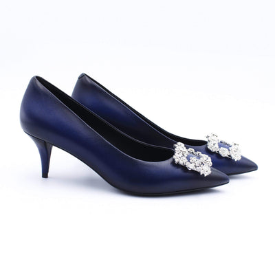HOPE ROSA Pumps MARYLYN PUMP HAND-PAINTED BLUE