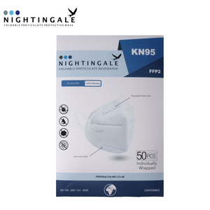 FFP2 - Nightingale KN95 Respiratory Face Mask - Individually Sealed - Box of 50
