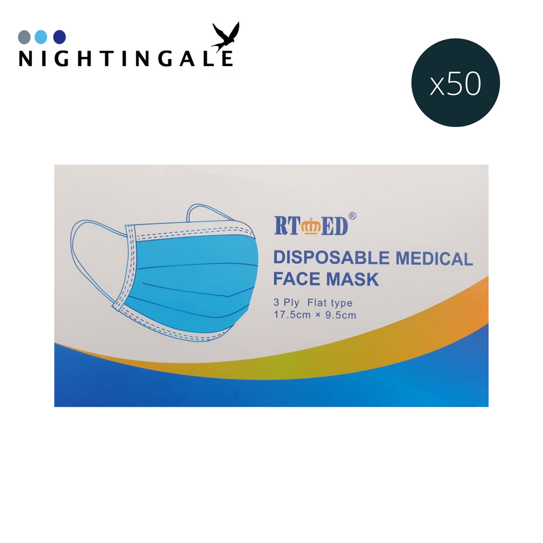 Medical Type IIR - RTⓇ - 3 Ply Face Mask - Box of 50
