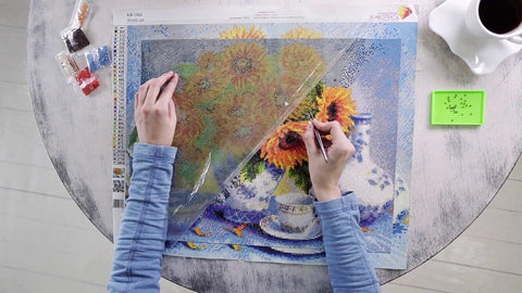 Flat Surface for Diamond Painting