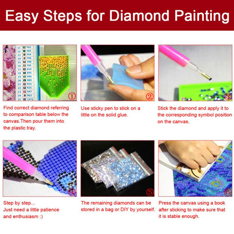Diamond Painting Steps