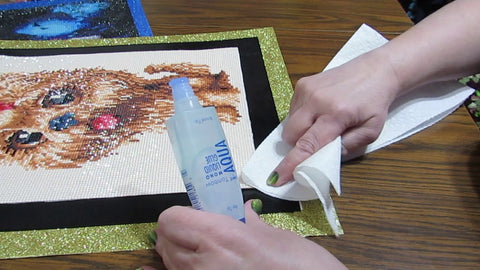 Sealing the Diamond Painting