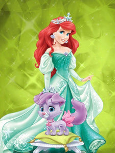 Princess Arial Paint with Diamonds