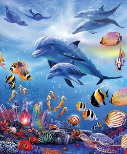 Dolphins 3D Diamond Painting Kit