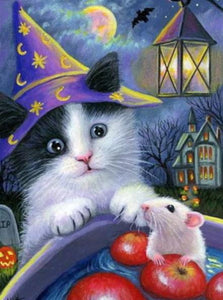 Cat & Mouse Diamond Painting Kit