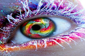 Colorful Eye Paint by Diamonds