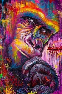 Colorful Gorilla Paint by Diamonds