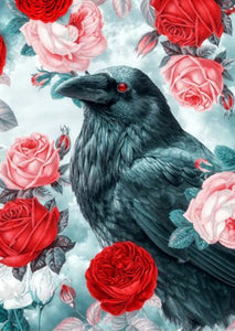 Crow & Roses Paint by Diamonds