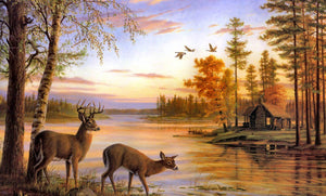 Buck & Doe Pair Diamond Painting Kit