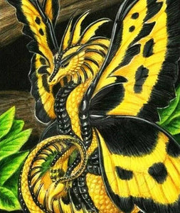 Dragon Butterfly Paint by Diamonds
