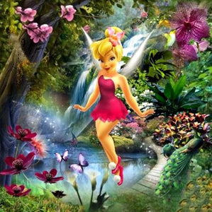 Fairy tinker Bell Paint by Diamonds