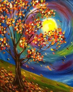 Fall Moon Diamond Painting Kit