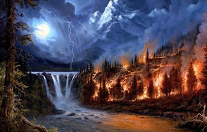 Forest Fire Diamond Painting Kit