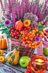 Thanksgiving Basket Paint with Diamonds