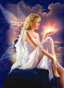 Mystical Angel Paint by Diamonds