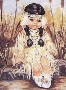 Native American child Paint by Diamonds