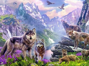 Pack of Wolves Diamond Painting